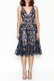 Dress the Population Fit Flare Dress - Front full body
