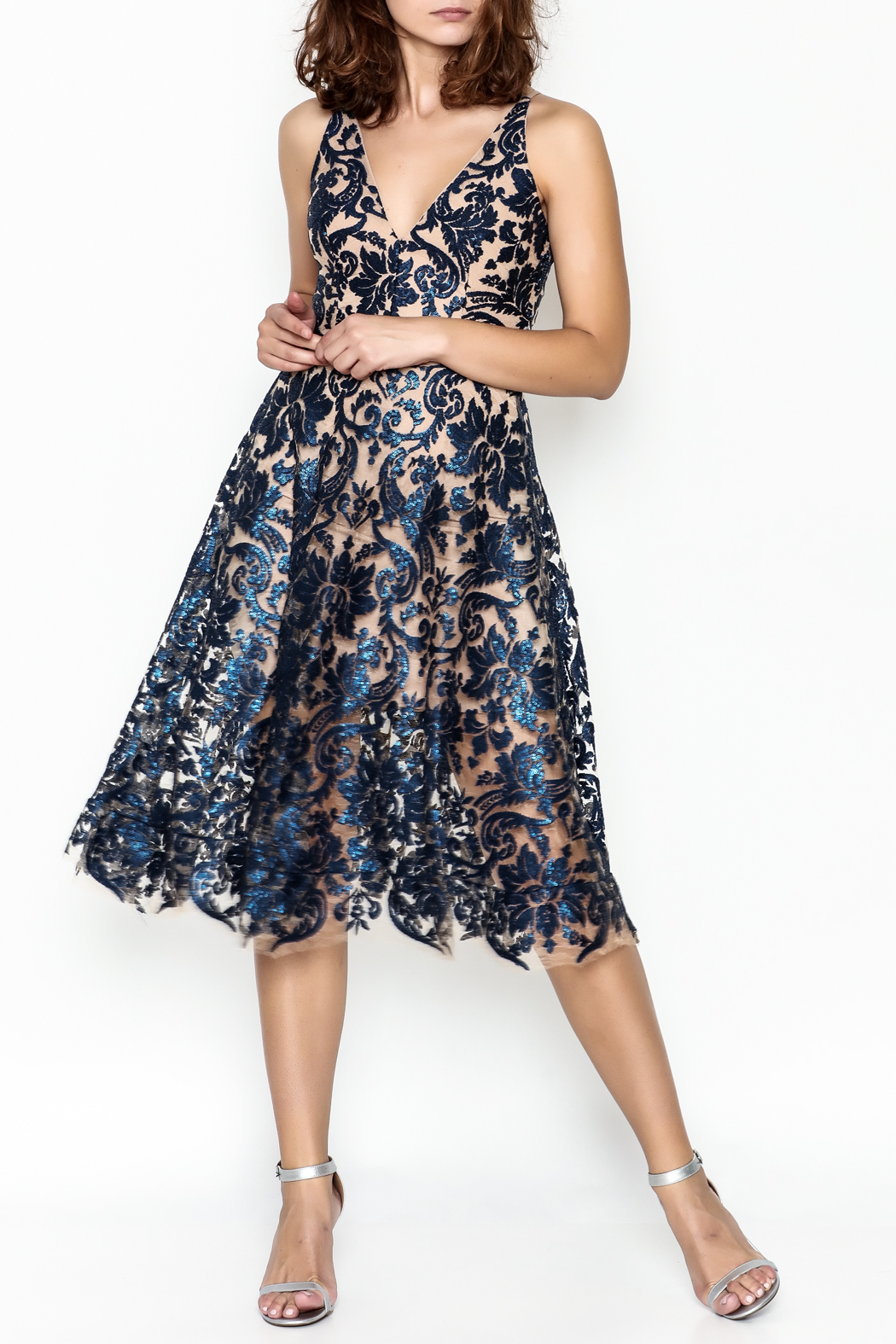 Dress the Population Fit Flare Dress - Main Image