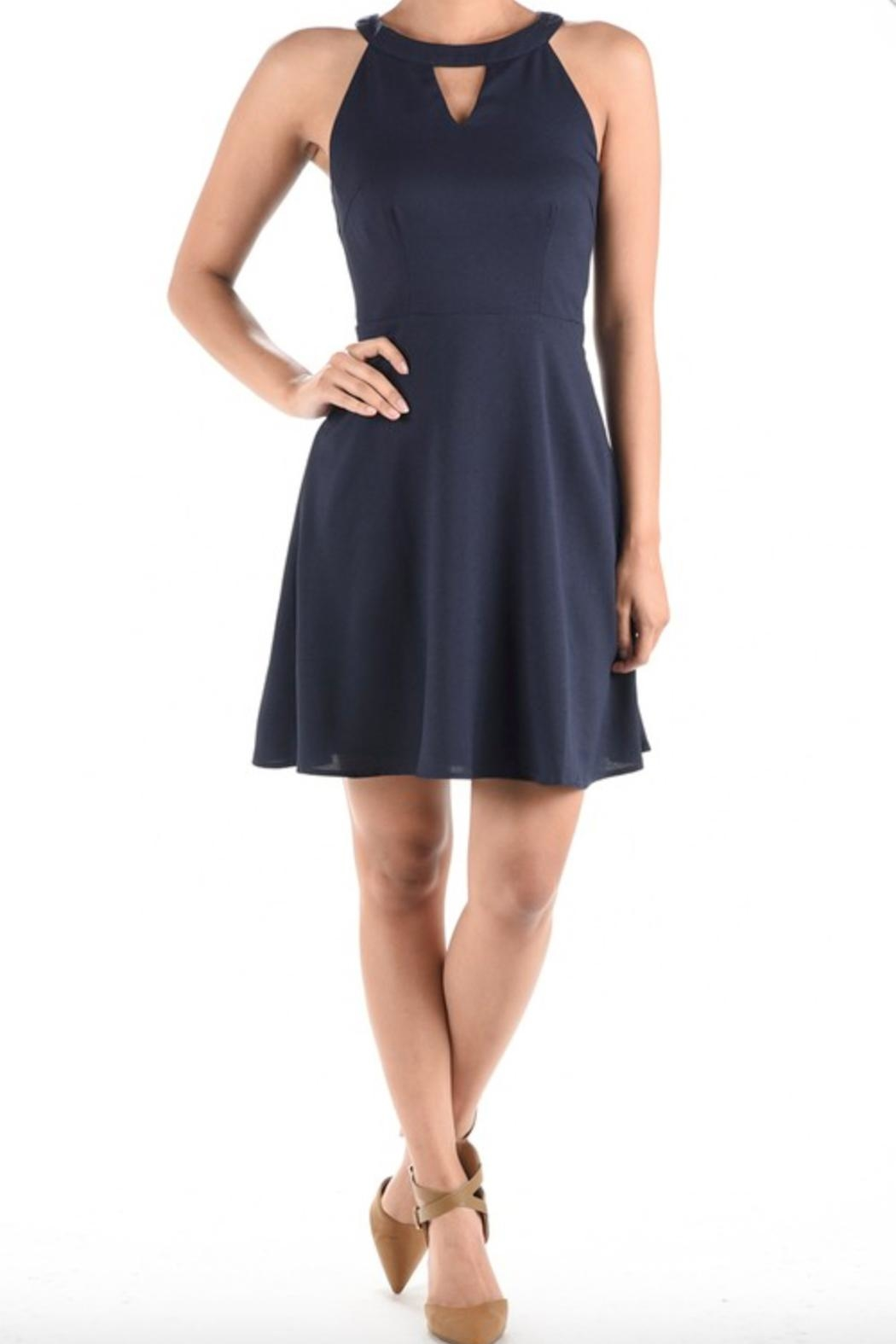 Aryeh Fit & Flare Dress - Back Cropped Image
