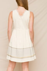 Hem & Thread Fit & Flare Dress with Lace V-Neck - Back cropped