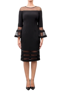 Joseph Ribkoff Fitted Bell-Sleeve Dress - Product List Image