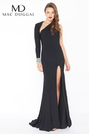 Mac Duggal Fitted Black Gown - Product Mini Image
