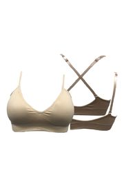 HaZe Apparel (fka Luxe Junkie) Fitted Convertible V-Front Padded Adj Bra - Front full body