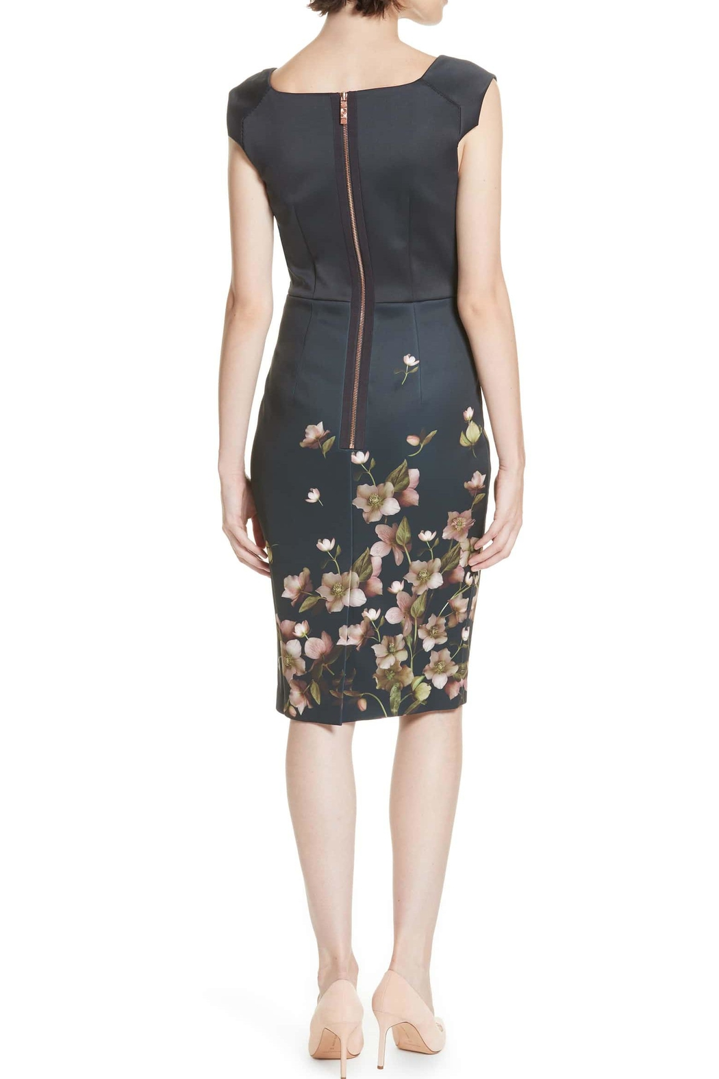 Ted Baker Fitted Floral Dress - Front Full Image