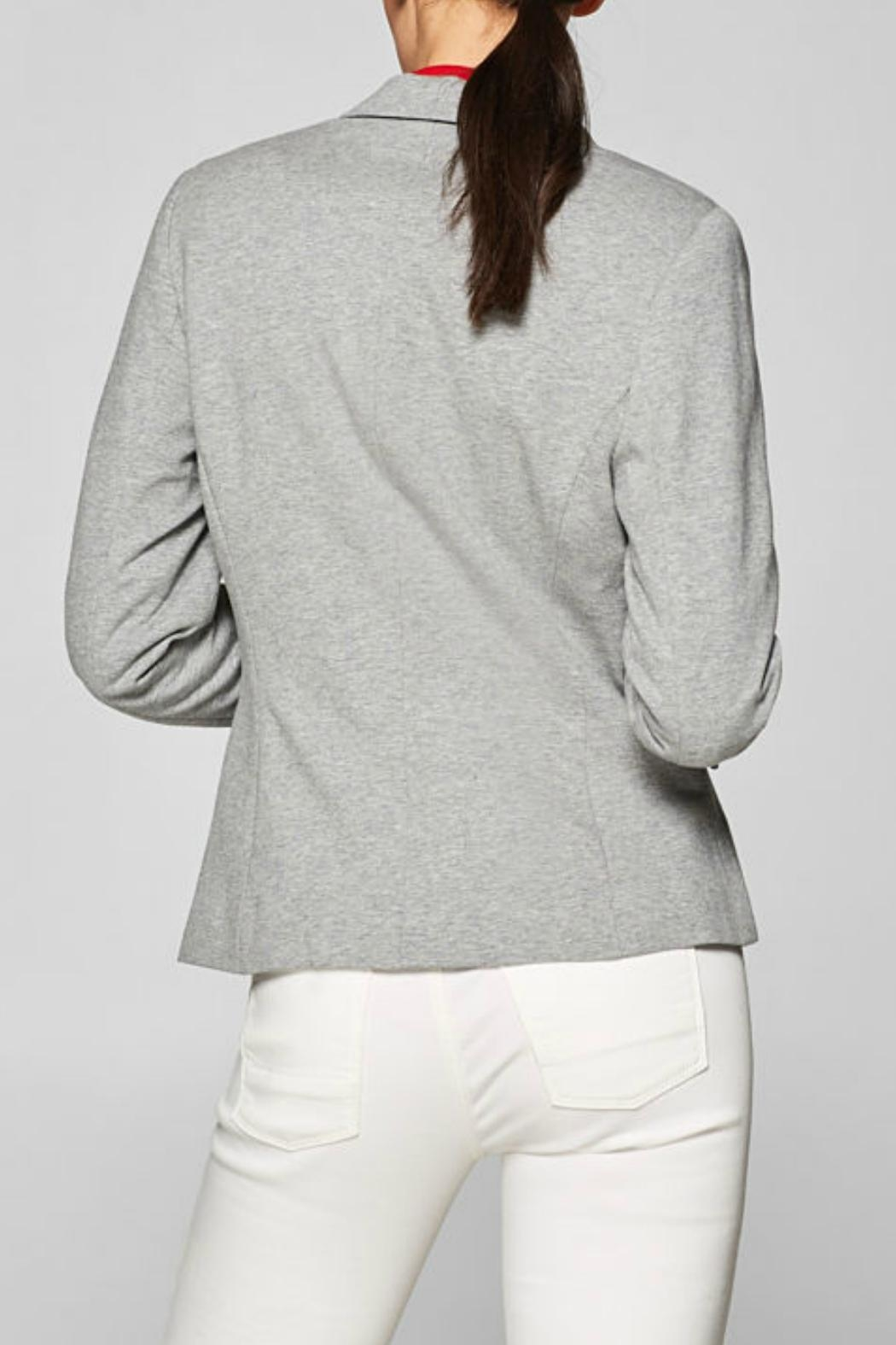 Esprit Fitted Jersey Blazer - Front Full Image