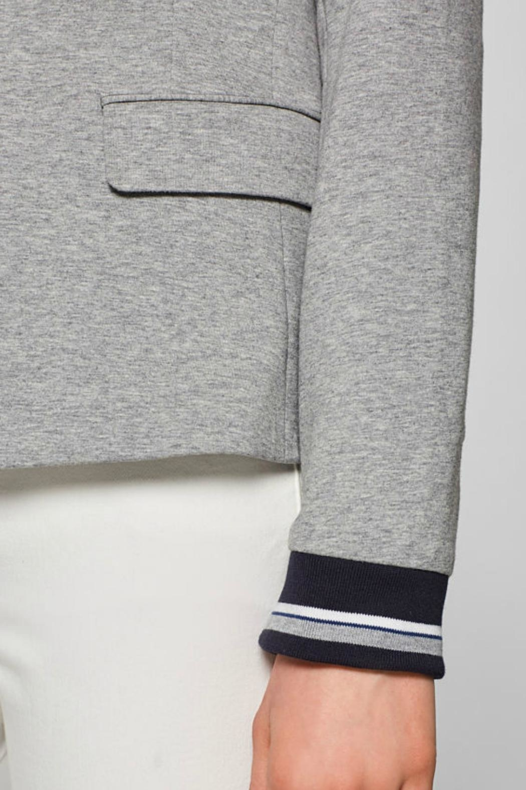 Esprit Fitted Jersey Blazer - Side Cropped Image