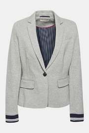 Esprit Fitted Jersey Blazer - Back cropped