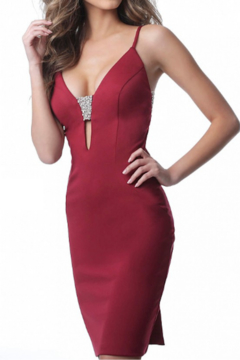 Jovani Fitted Jersey Dress - Product List Image