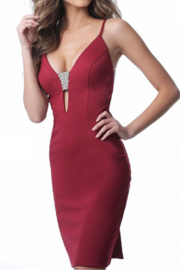 Jovani Fitted Jersey Dress - Product Mini Image