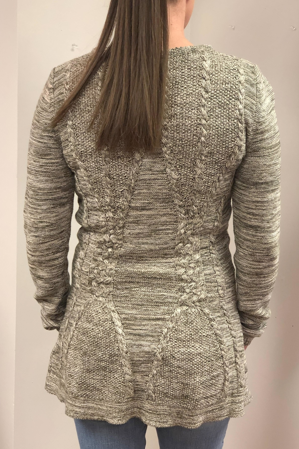 Keren Hart Fitted Knit Sweater - Front Full Image