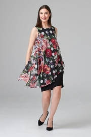 Joseph Ribkoff  fitted LBD with floral chiffon overlay - Product Mini Image