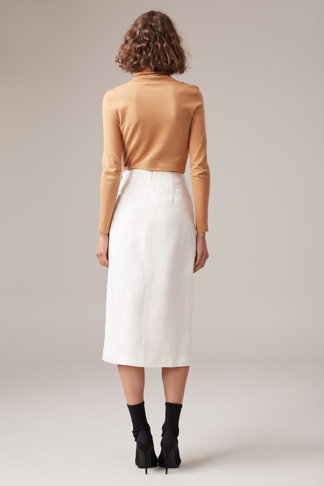 C/MEO COLLECTIVE Fitted Linen Skirt - Front Full Image