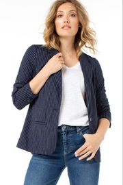 Liverpool  Fitted Pinstripe Blazer, Navy - Product Mini Image