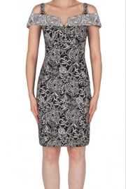Joseph Ribkoff Fitted Sheath Jaquard Print Dress - Product Mini Image
