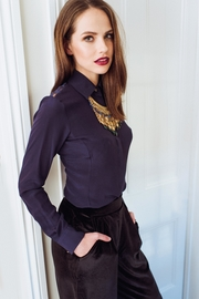 Sophie Cameron Davies Fitted Silk Shirt - Front cropped
