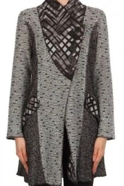 Joseph Ribkoff Fitted Sweater Jacket - Front cropped