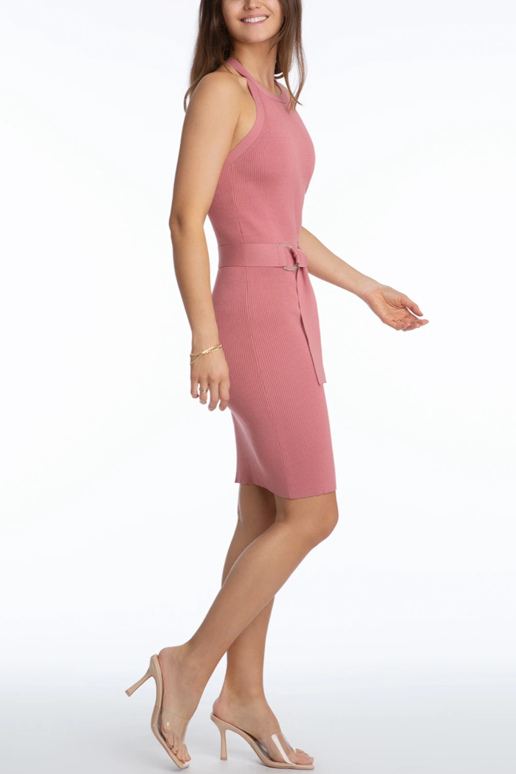 525 America Fitted Tank Dress - Front Cropped Image