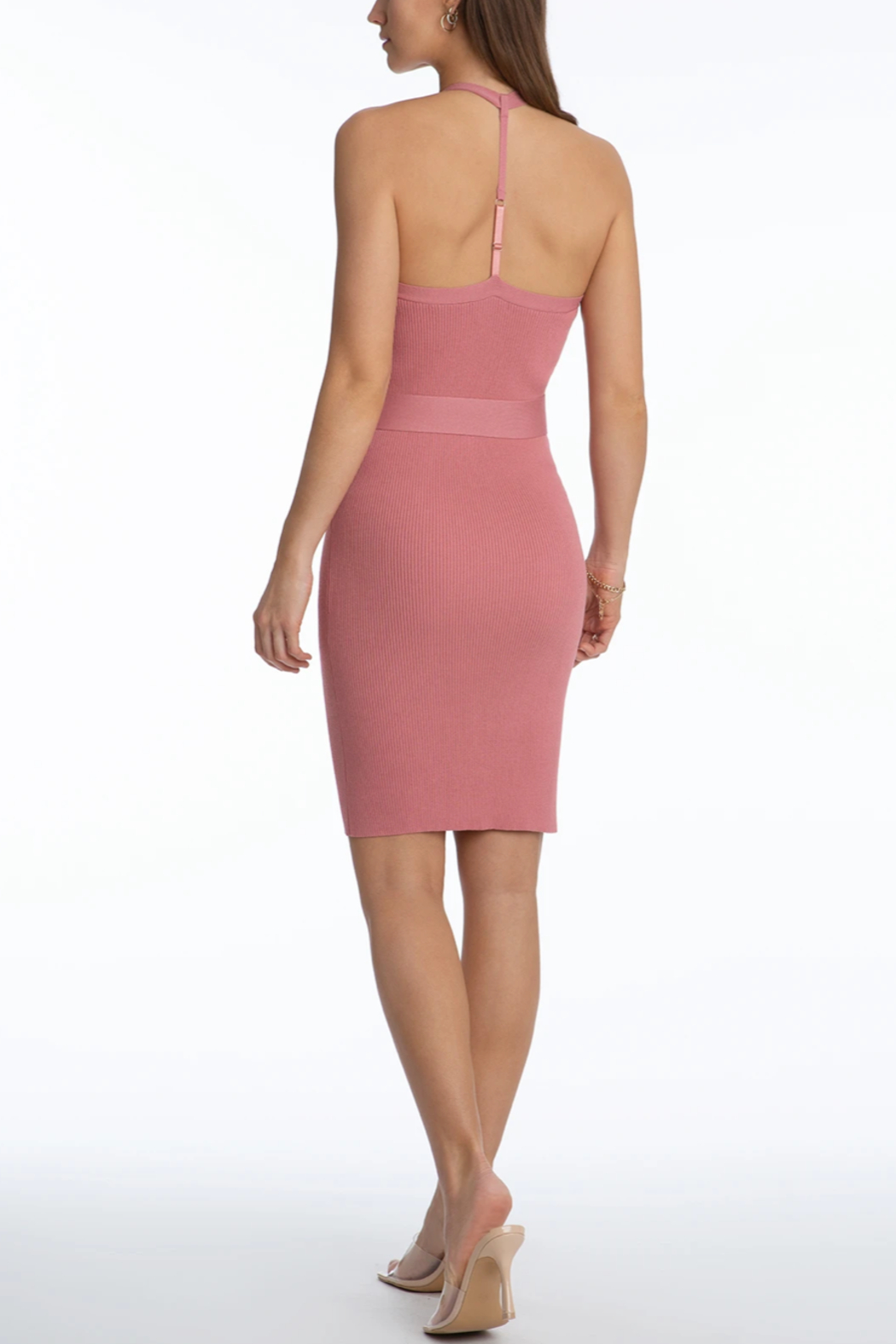 525 America Fitted Tank Dress - Side Cropped Image