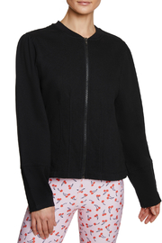 Betsey Johnson Fitted Terry Bomber Jacket - Product Mini Image