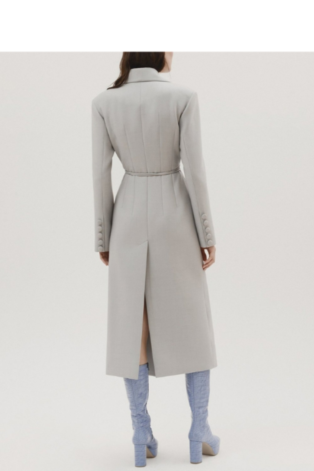 Materiel  Fitted Trench Coat with Overlay - Side Cropped Image