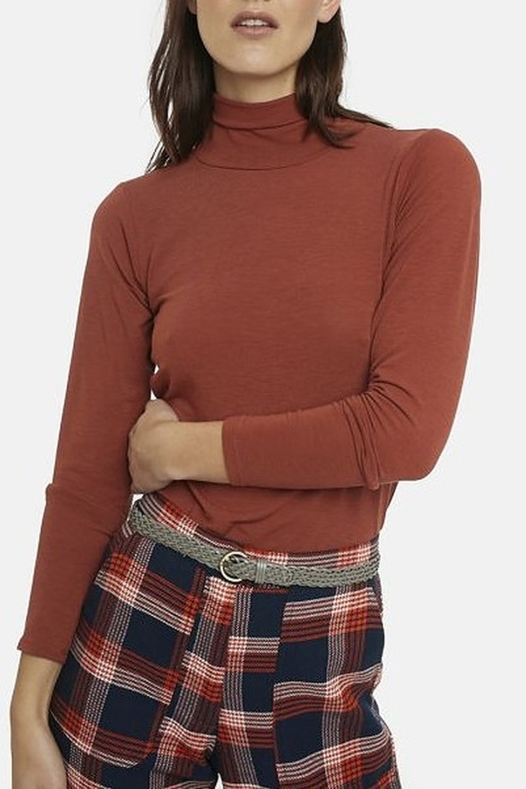 Compania Fantastica Fitted Turtle Neck - Front Cropped Image