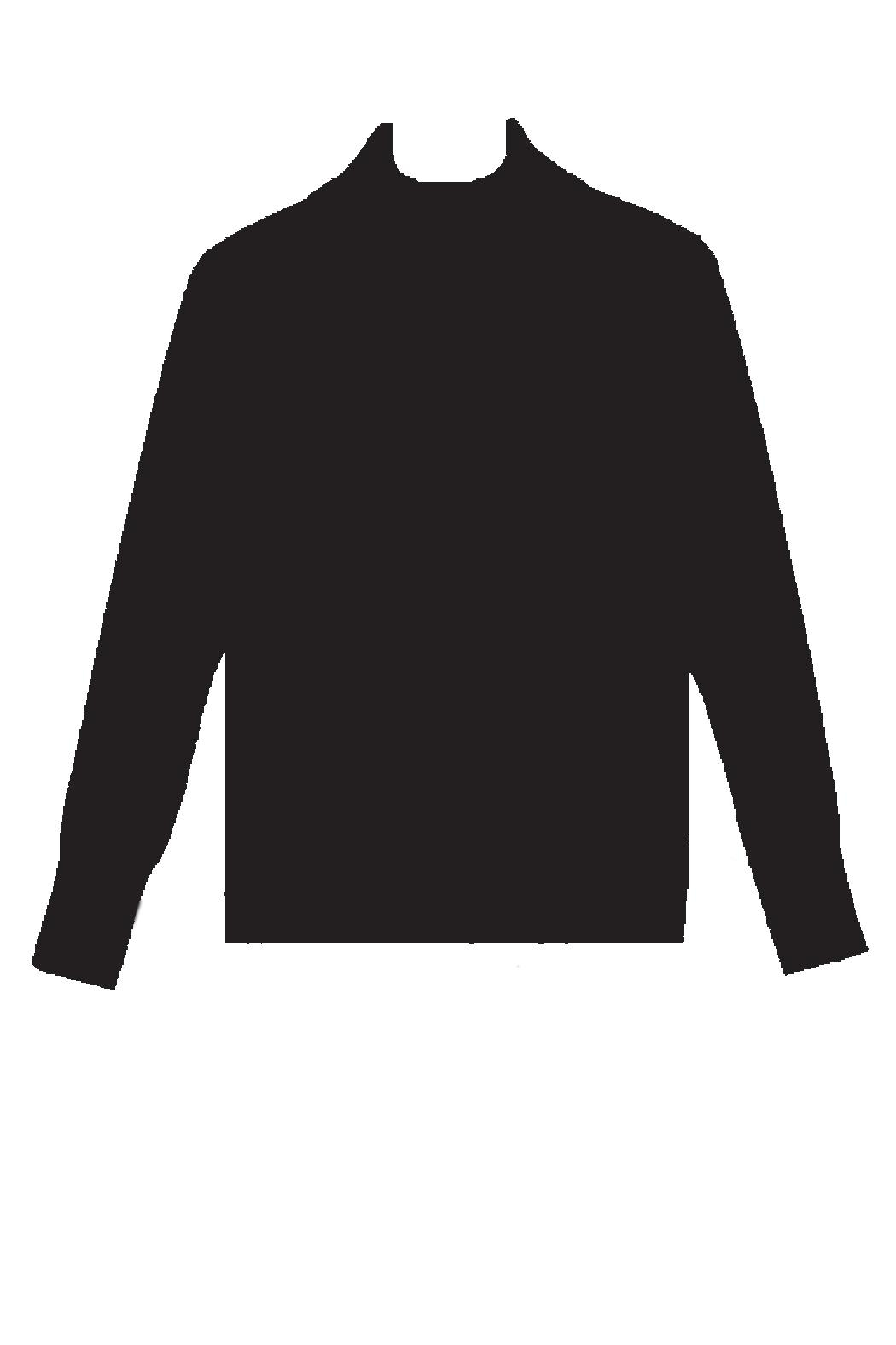 Cable & Gauge Fitted Turtleneck - Front Cropped Image