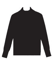 Cable & Gauge Fitted Turtleneck - Front cropped
