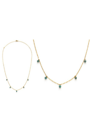 Amano Trading Five graces necklace- Japanese seed beed - Front cropped