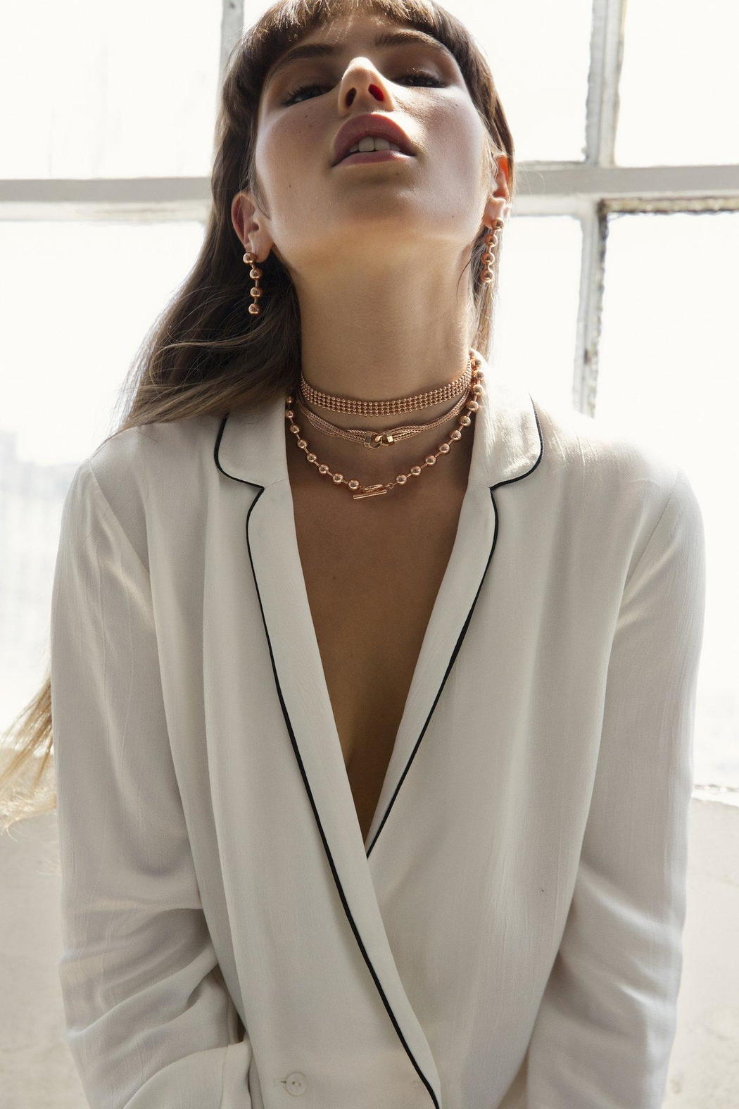 Five and Two Charlotte Choker Necklace - Side Cropped Image