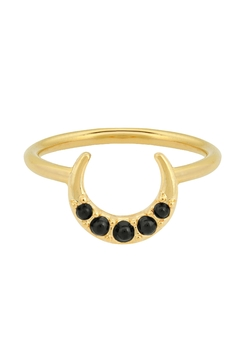 Five and Two Florence Ring Onyx - Alternate List Image