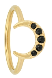 Five and Two Florence Ring Onyx - Product Mini Image