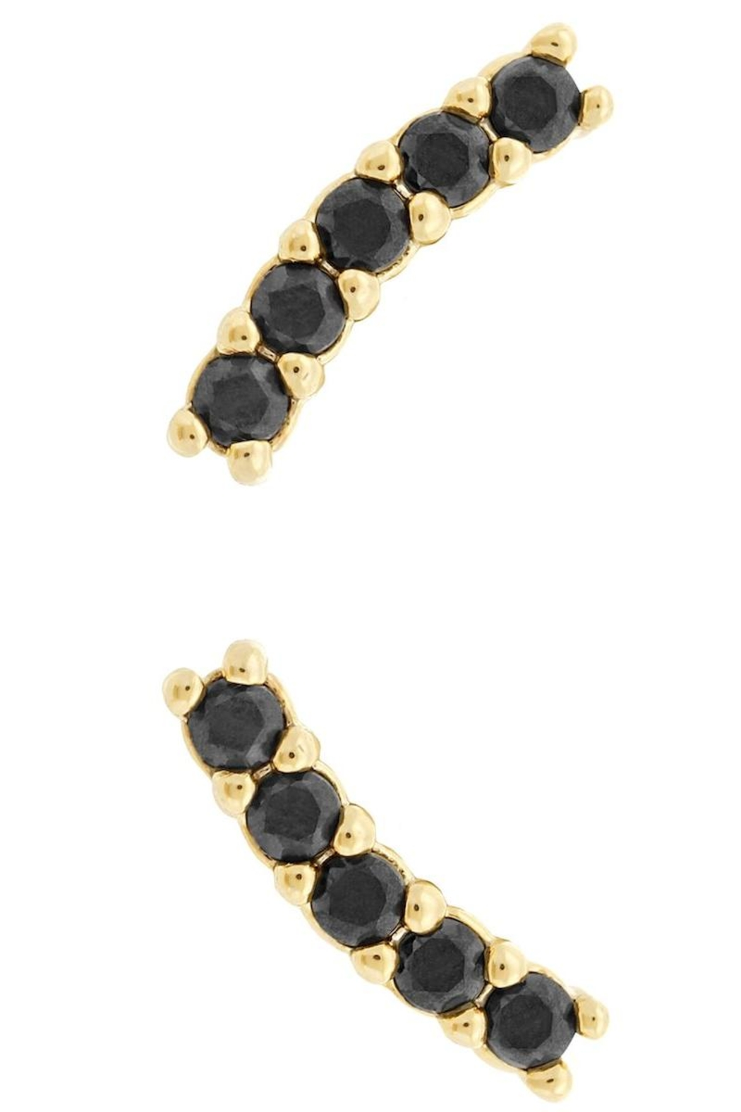 Five and Two Meg Earrings Gold/onyx - Main Image