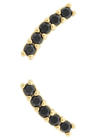 Five and Two Meg Earrings Gold/onyx - Product Mini Image