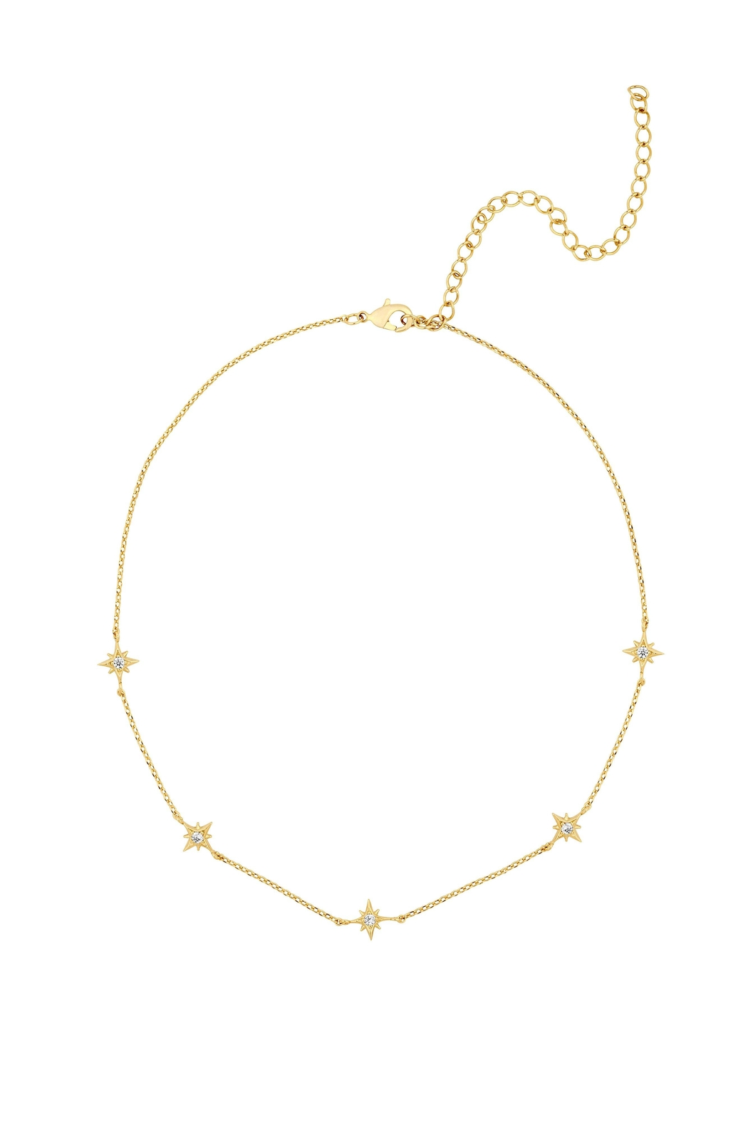 Five and Two Mona Star Choker Necklace - Front Cropped Image