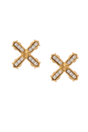 French Kande FKP102-Y-G - Gold Swarovski French Kiss Earrings - Product Mini Image