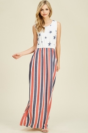 Reborn J Flag Maxi Dress - Front cropped