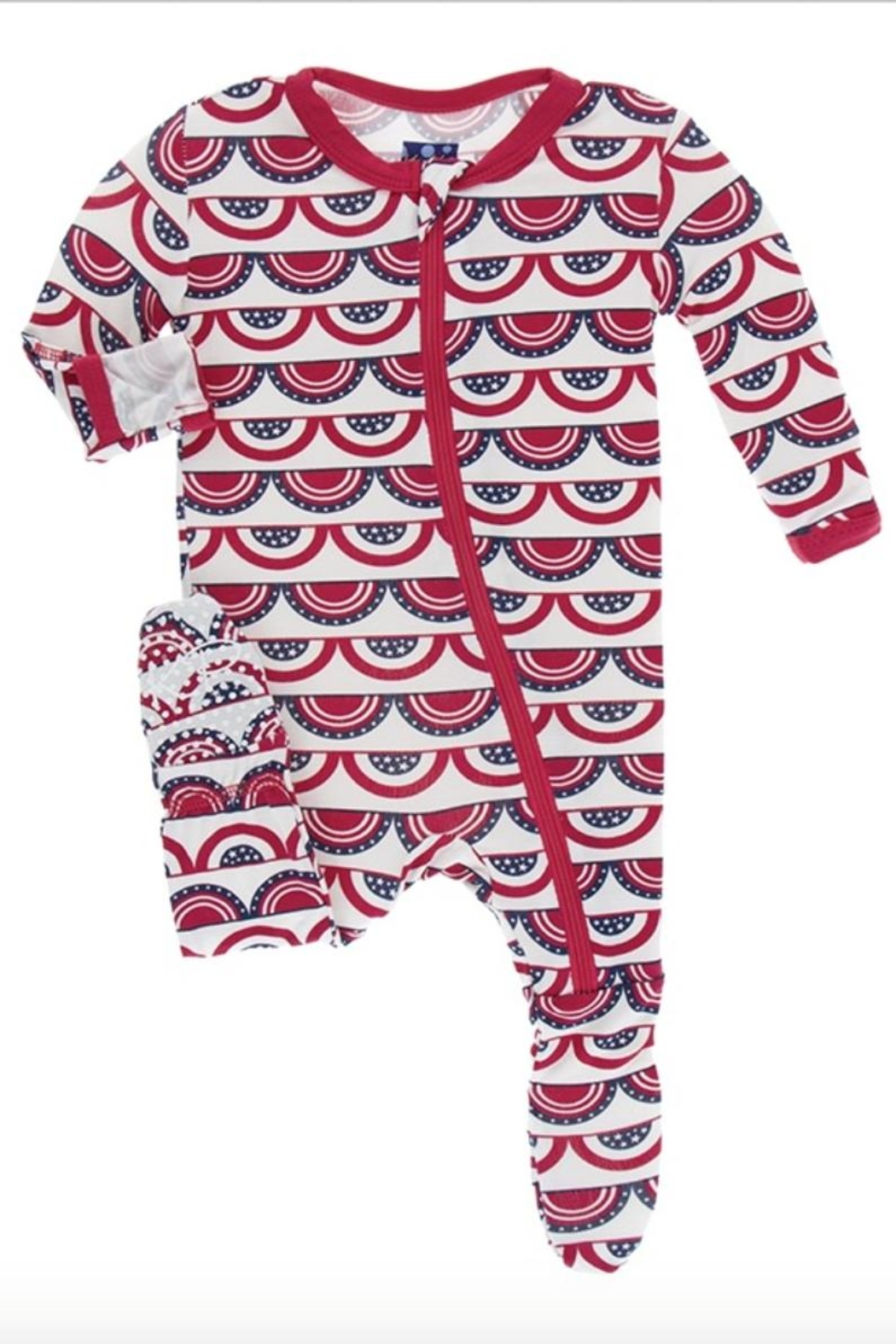 Kickee Pants Flag Print Footie - Main Image