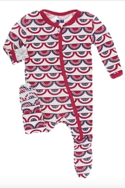 Kickee Pants Flag Print Footie - Front cropped