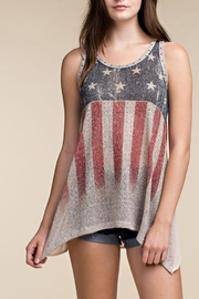 The Vintage Valet Flag Rhinestone Tank - Product Mini Image