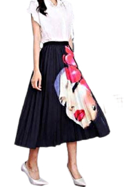 Petunias of Naples Flamenco Pleated Skirt - Front cropped