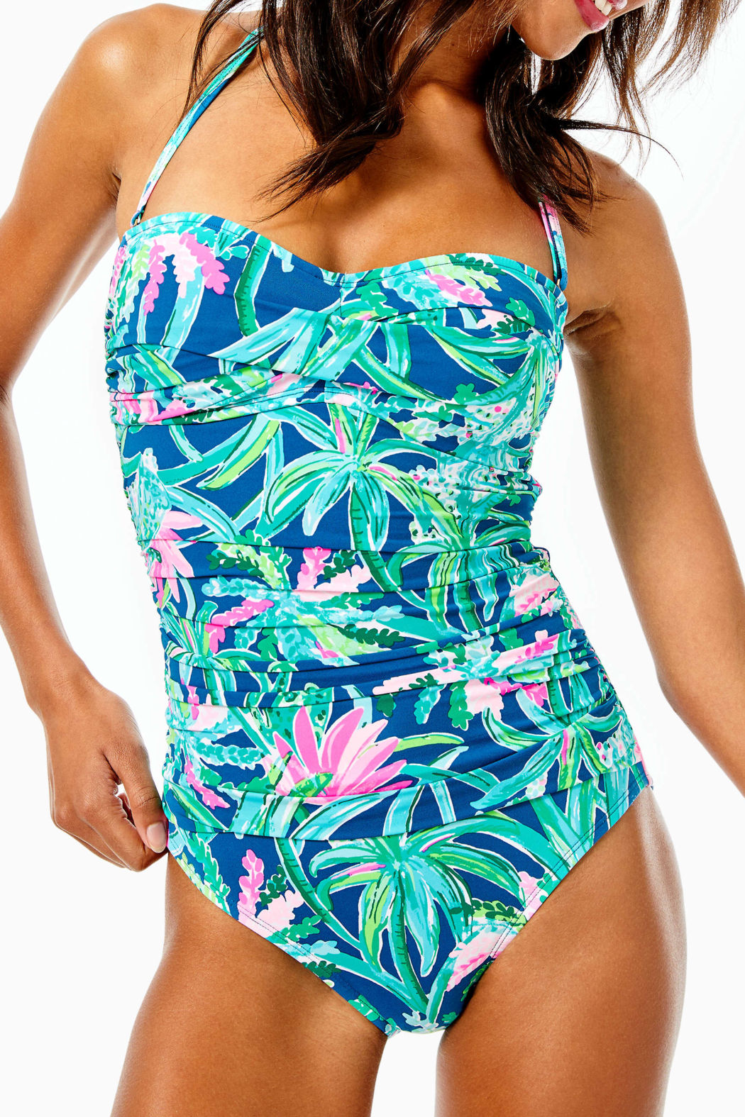 Lilly Pulitzer  Flamenco Swimsuit - Front Full Image
