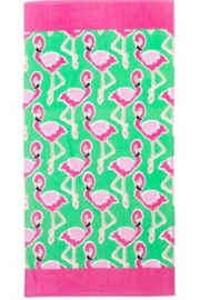 Viv & Lou Flamingle Beach Towel - Front cropped