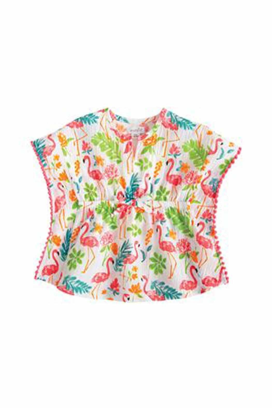MUDPIE Flamingo Beach Coverup - Front Cropped Image