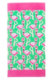 Viv & Lou Flamingo Beach Towel - Product Mini Image