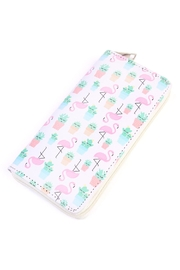 Riah Fashion Flamingo Cactus Wallet - Product Mini Image