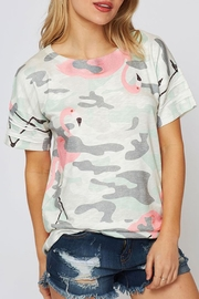 Fantastic Fawn Flamingo Camo Top - Product Mini Image