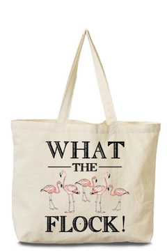 Arden Clothing Flamingo Canvas Tote - Product List Image