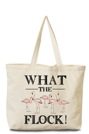 Arden Clothing Flamingo Canvas Tote - Product Mini Image