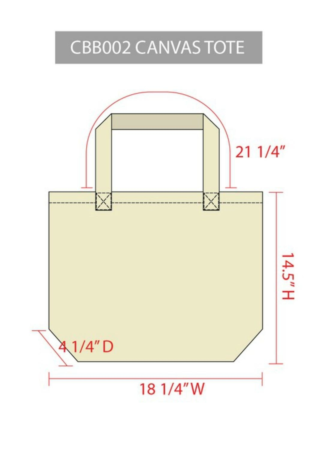 Arden Clothing Flamingo Canvas Tote - Front Full Image