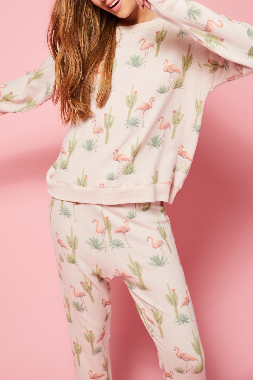 All Things Fabulous Flamingo Cozy Jumper - Back Cropped Image